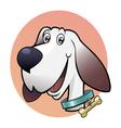 Happy cute dog vector