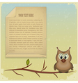 Wise owl background vector