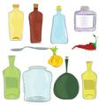 Water color jars icon set vector