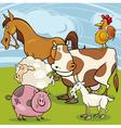 Farm animals cartoon group vector