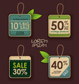 Set of ecology labels vector