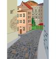 Cartoon street of old town vector