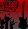 Rock music festival template vector