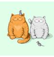Full cats vector