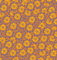 Floral seamless abstract hand-drawn pattern vector