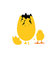 Egg and chick vector