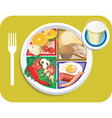 Breakfast items vector