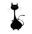 Cat black funny vector