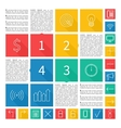 Infographic design flat user interface abstract vector