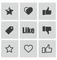 Black like icons set vector