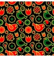 Seamless patternbirds and flowers vector
