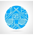 Japanese food round icon vector