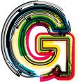 Colorful grunge font letter g vector