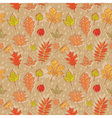 Autumn leaves colorful seamless pattern vector