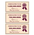 Award certificates vector