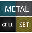 Texture chrome metal grill vector