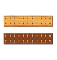 Wooden rulers vector