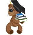 Teddy bear holding a books vector
