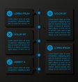 Infographic template banners vector