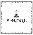 Conceptual lettering design - school vector