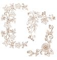 Decorative autumn branches vector