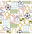Sports seamless pattern with soccer symbols vector