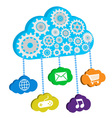 Cloud computing and apps vector