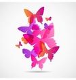 Butterflies design background vector