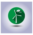 Eco icon sticker vector