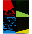 Abstract vertical banner vector