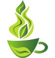 Green tea cup vector
