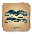 Zodiac sign - aquarius doodle hand-drawn style vector