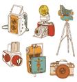 Set of photo cameras vector