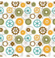 Seamless background of color gear wheels vector