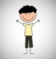 Boy draw vector