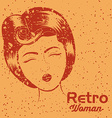 Retro woman design vector