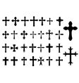 Religion cross symbols set vector