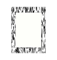 Black and white photo frame vector