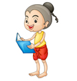 Girl reading vector