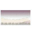 Mountain landscape sketch vector