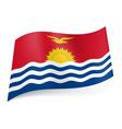 State flag of kiribati vector