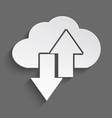 White cloud up and down 3d vector