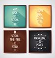 School - conceptual design lettering vector