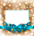 Greeting elegant card with christmas decoration vector