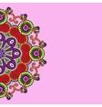 Ornamental circle template vector