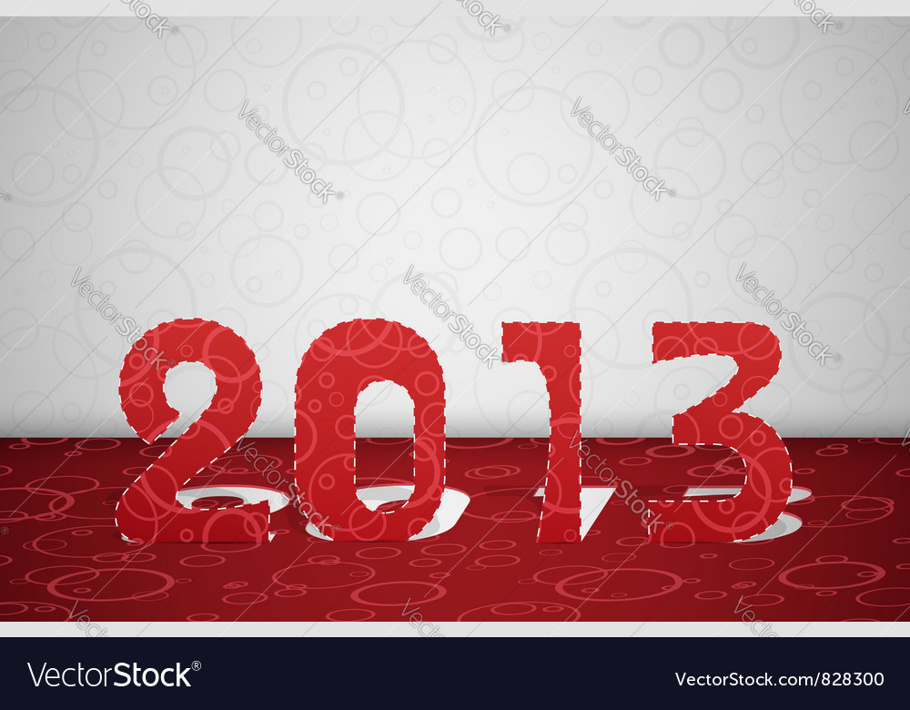 2013 year card vector | Price: 1 Credit (USD $1)