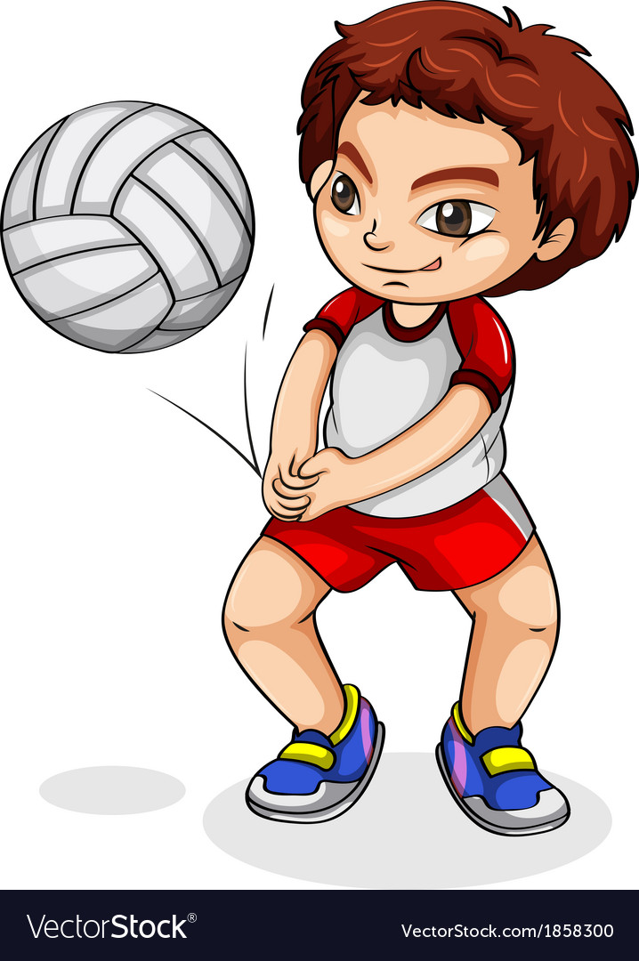 An asian volleyball player vector | Price: 1 Credit (USD $1)