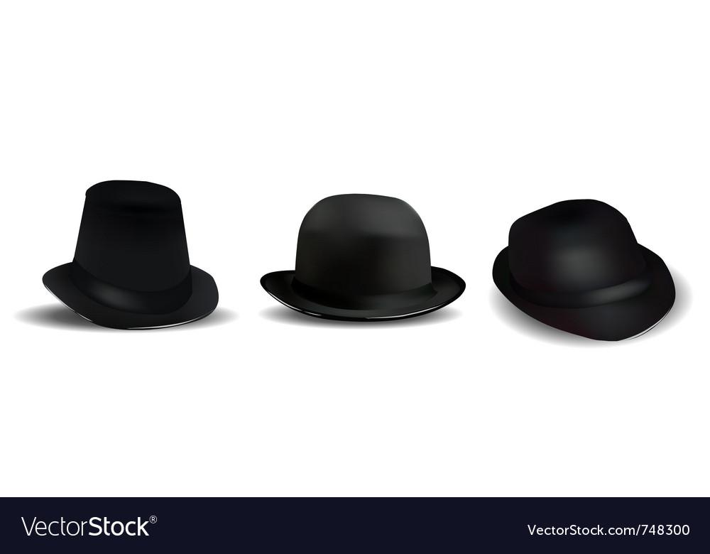 Black hats vector | Price: 1 Credit (USD $1)