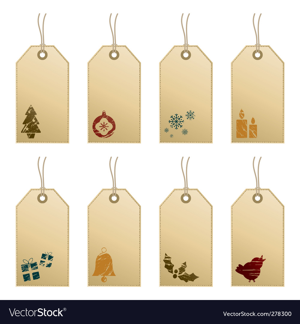 Christmas tags with icons vector   Price: 1 Credit (USD $1)
