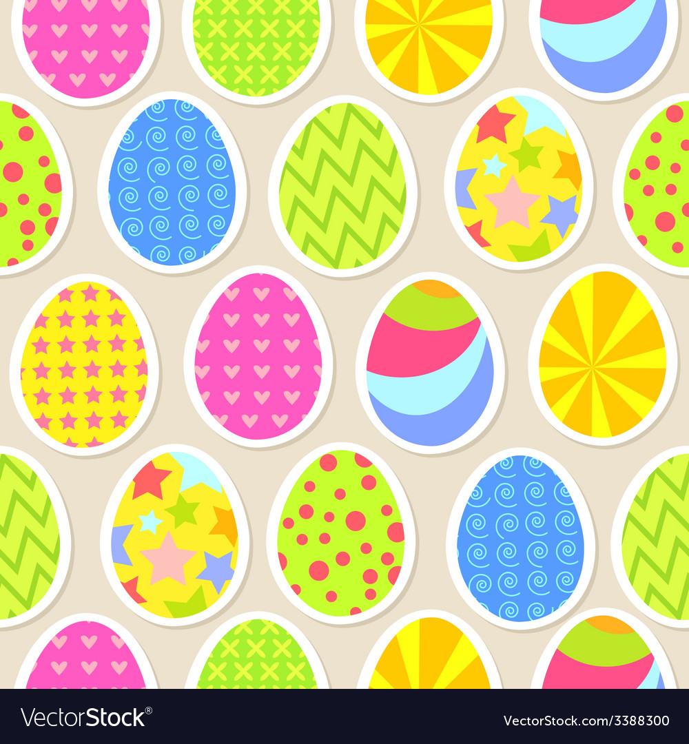 Colorful easter egg seamless background vector | Price: 1 Credit (USD $1)